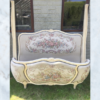 1920s French tapestry bed