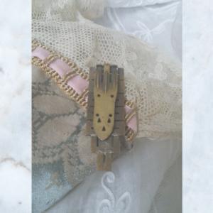 Vintage Art Deco Diamante Hair Clip Brooch