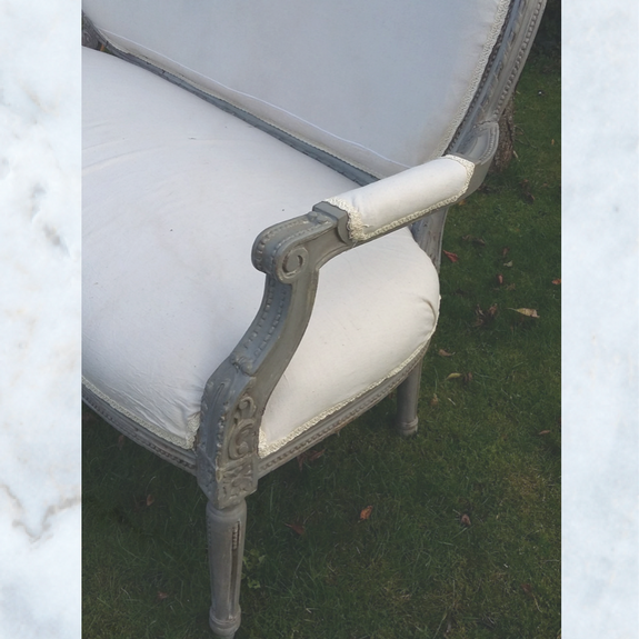 Antique Vintage French Sofa Love Seat