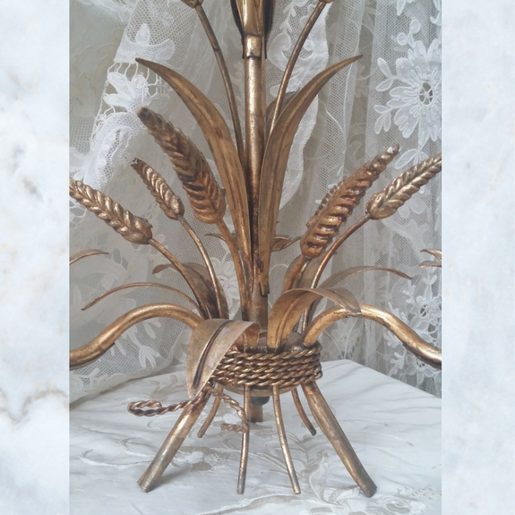 Antique Vintage French Wheat Sheaf Chandelier Light