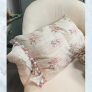French floral cushion