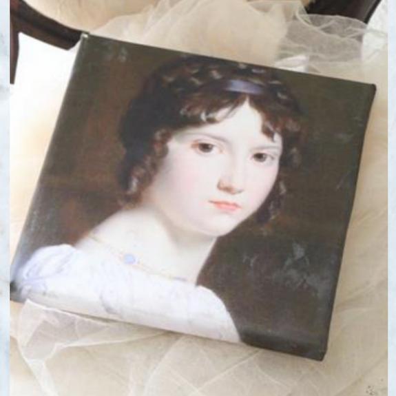 Jeanne d'Arc Living motif on canvas