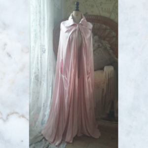 1940's pink sateen evening cape