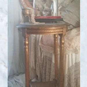 French Louis XVI gilt wood console table