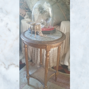 French louis XVI marble top console table