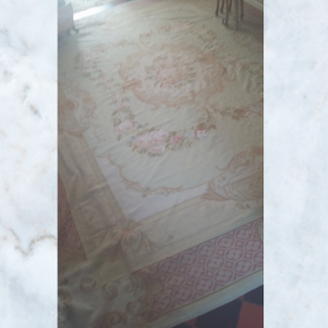 Large French needlepoint rug