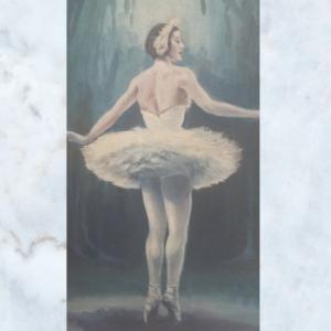 Vintage ballerina picture