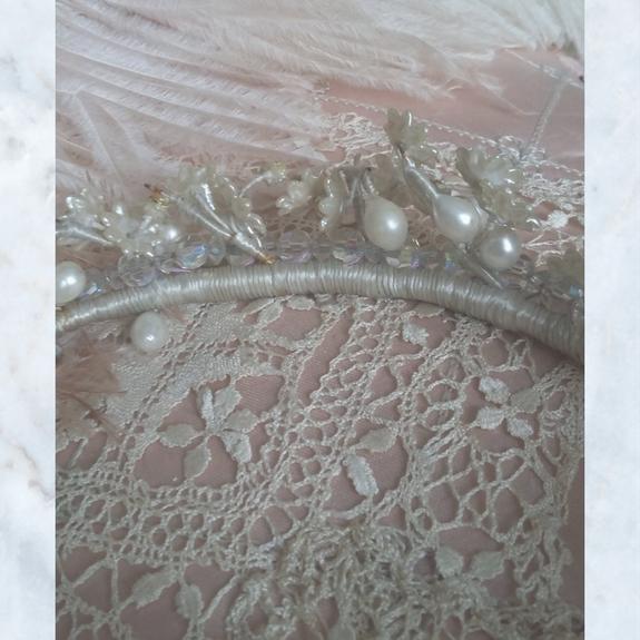 Vintage french wedding headdress