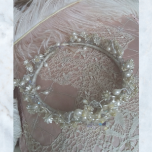 Vintage french wedding headdress