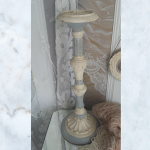 Large painted french candlestick