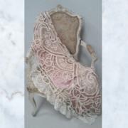 Antique tambour lace pelmet