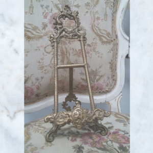 Vintage french brass easel