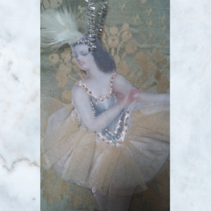 Vintage French ballerina decoration