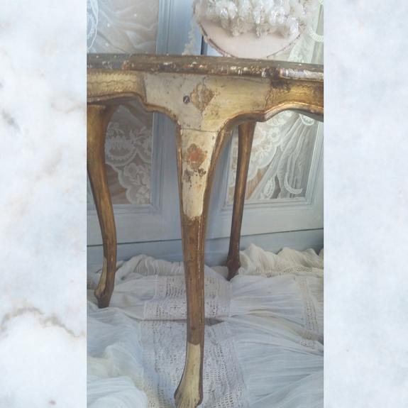 Vintage florentine gilt wood table