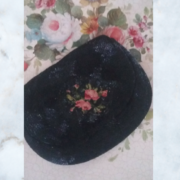 Antique victorian black beaded bag