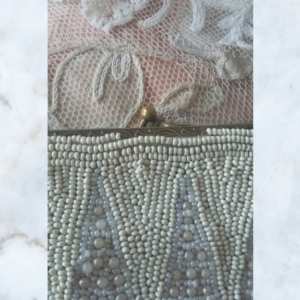 vintage pearl beaded bag