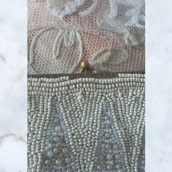 vintage pearl beaded bag