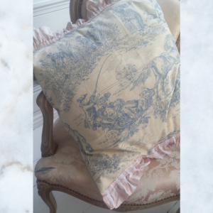vintage French toile cushion