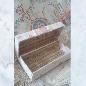 French fabric & decoupage box
