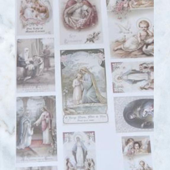 Jeanne d'Arc Living old prayer cards