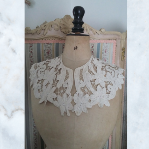 Antique victorian cutwork lace collar