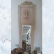 French cherub mirror