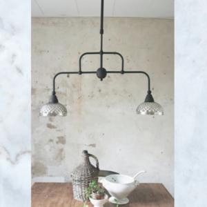 JDL hanging mercury glass lamp