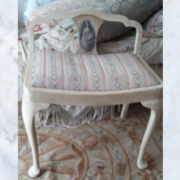 Antique French chair stool