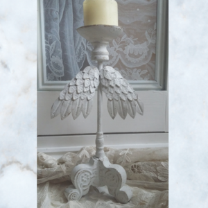 Angel wing candle stick