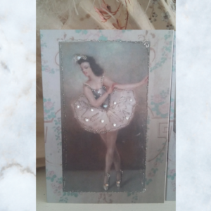 French ballerina card
