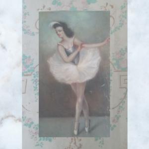 French ballerina card