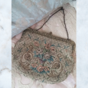 Antique tapestry bag