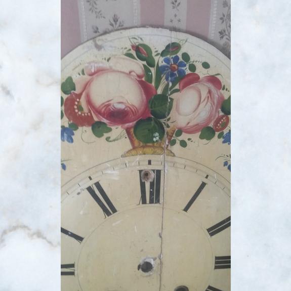 floral clock face