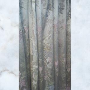 pair of brocade curtains