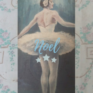 Christmas swan lake ballerina card