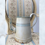 French enamel jug