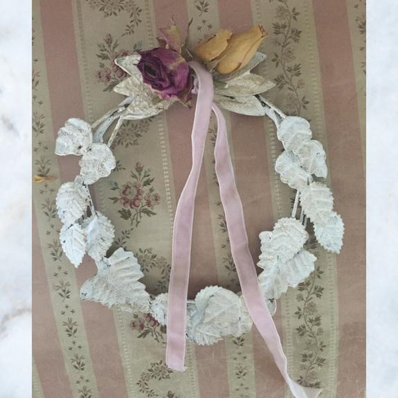 white JDL wreath