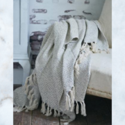 JDL woven throw grey cream