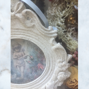 picture frame cherub decoration