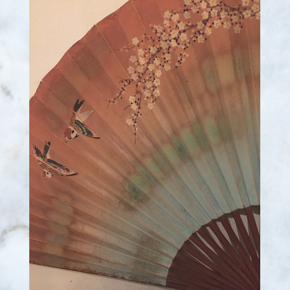 Large chinoiserie fan