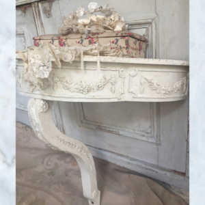 Vintage French white console table