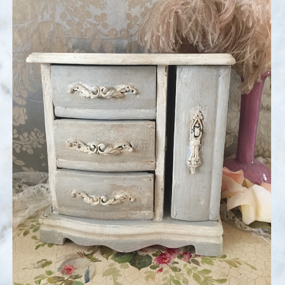 Vintage French armoire jewellery casket
