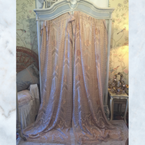 Pair of 1920s fringed curtains