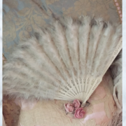 Antique feather fan