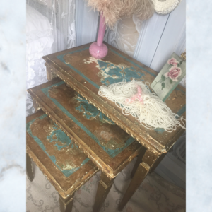 Vintage florentine nest of tables