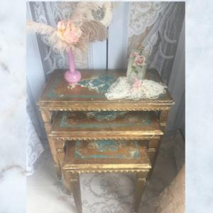 Vintage florentine nest of tables