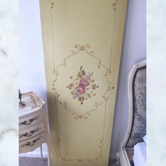 Vintage french floral door panel