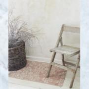 Jeanne d'Arc Living rug carpet cream dusty rose