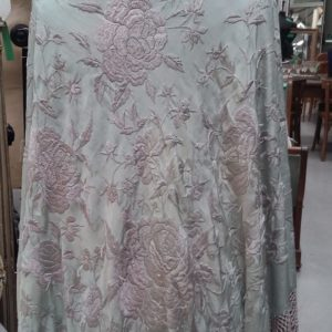 Antique embroidered piano shawl