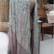 Antique embroidered piano shawl
